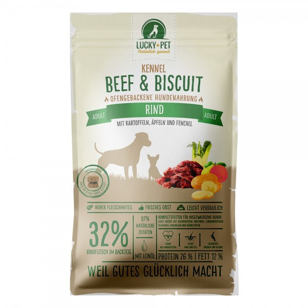 Lucky-Pet Original Beef & Biscuit Adult Kennel 12 kg