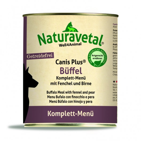 Canis Plus Büffel Komplett-Menü 820 g