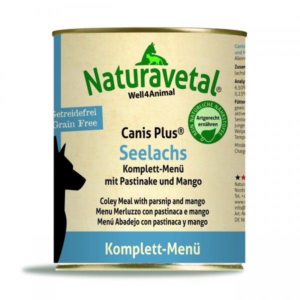 Canis Plus Seelachs Komplett-Menü 800 g