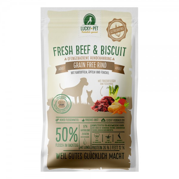 Lucky-Pet Fresh Beef & Biscuit Adult Grain Free 12 kg