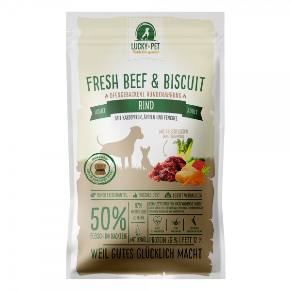 Lucky-Pet Fresh Beef & Biscuit Adult Rind 12 kg